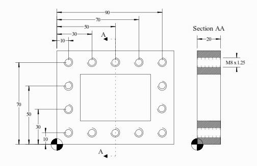 برنامه CNC فرز فانوک با کد G81 . G84